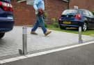 Telescopic Driveway Security Post - Grey
