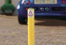 Telescopic Driveway Security Post - Yellow