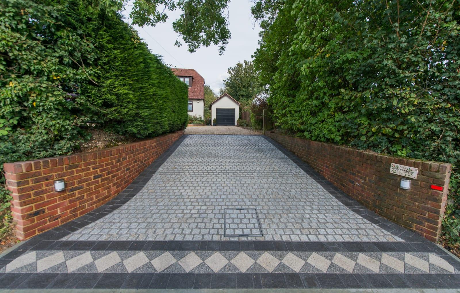 Marshalls Sawn Granite Setts and Drivesett Argent in Light and Dark block paving