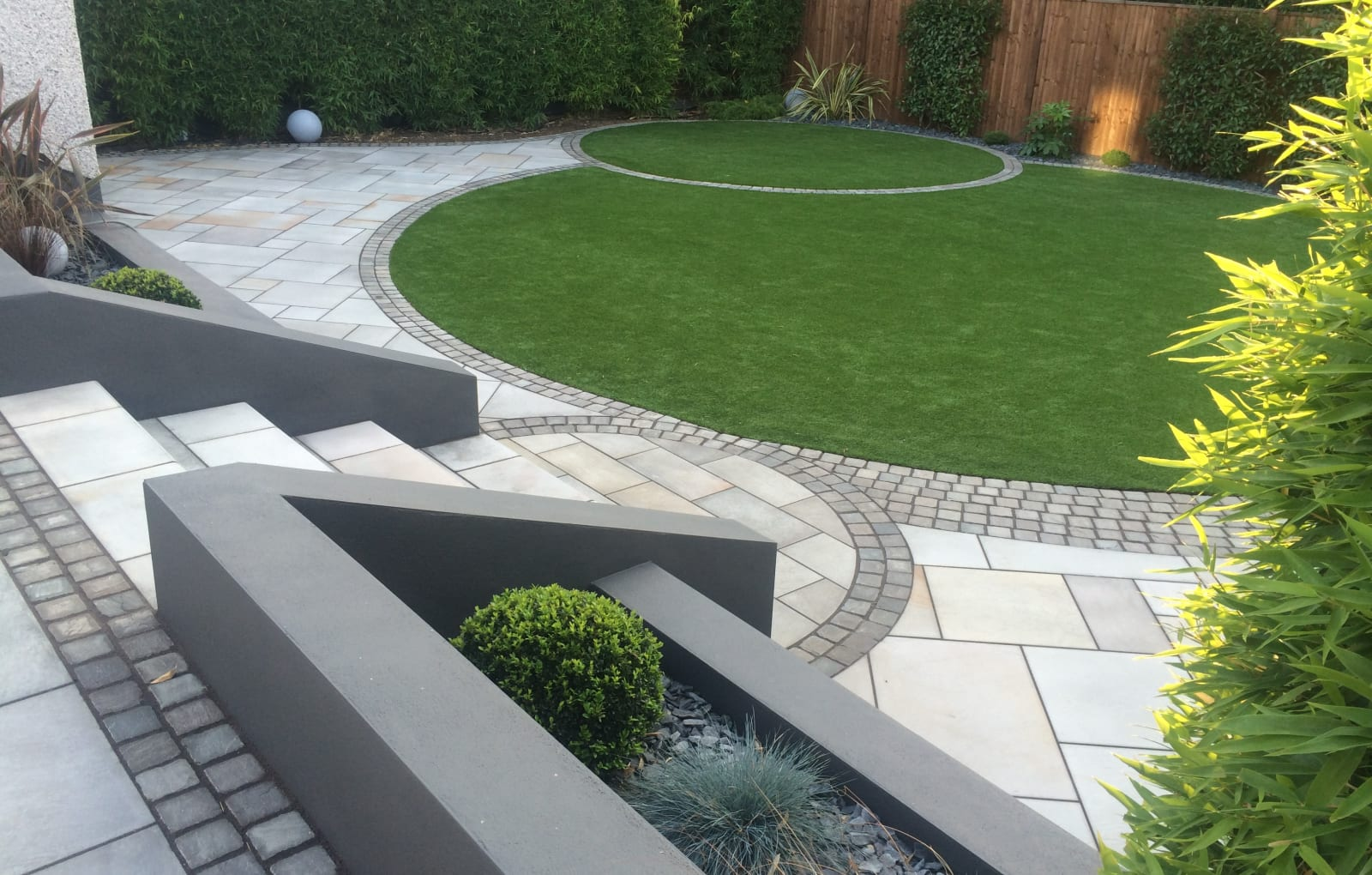pavex with fairstone setts and linear