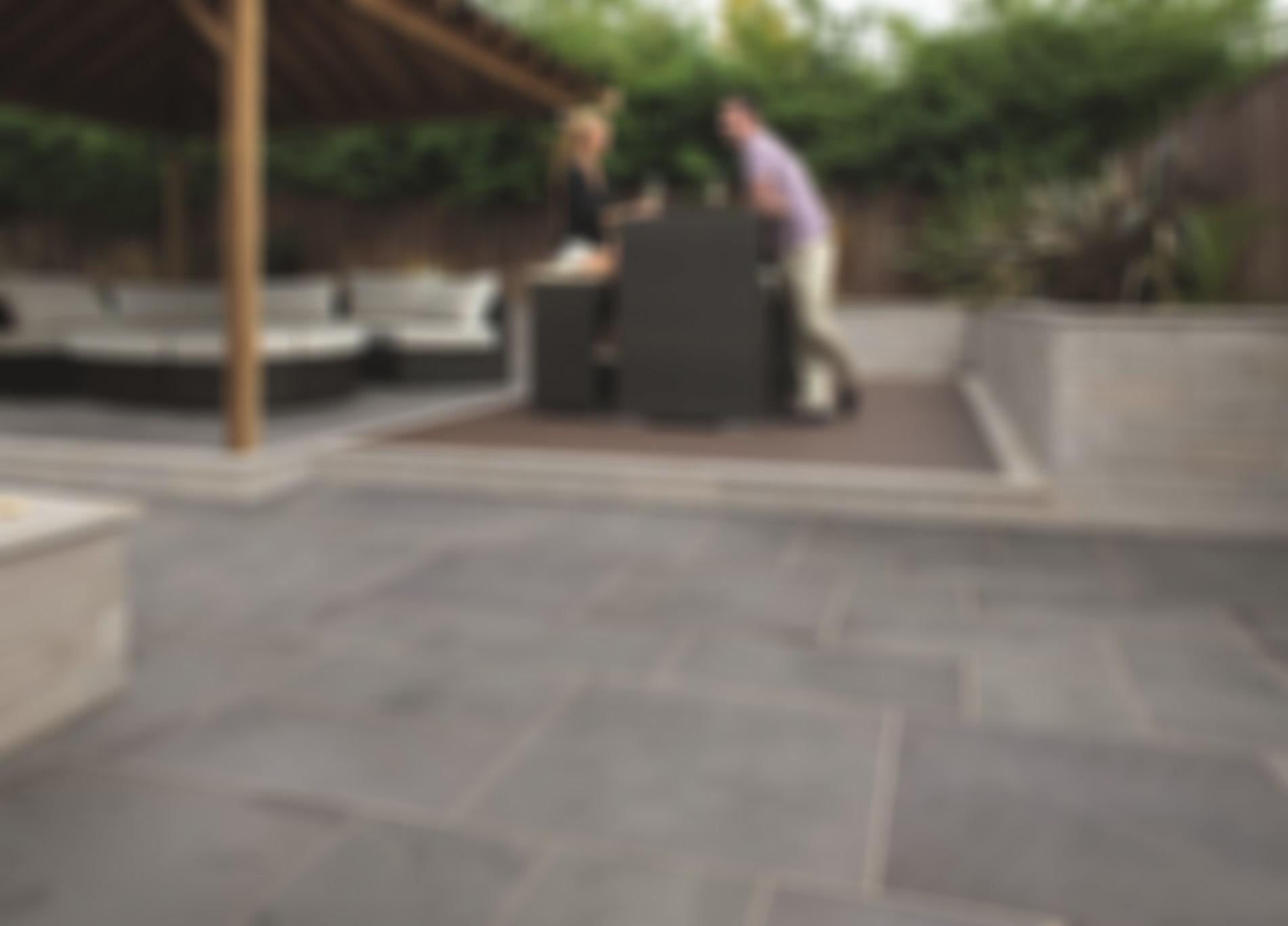 Marshalls Casarta Slate garden paving.