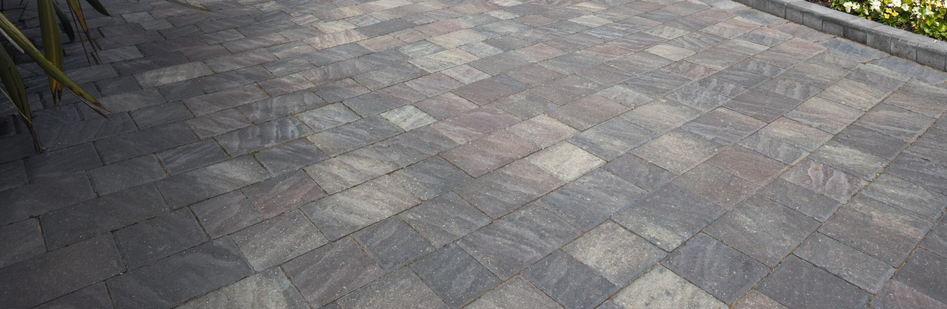 marshalls drivesett natrale driveway paving in slate colour.