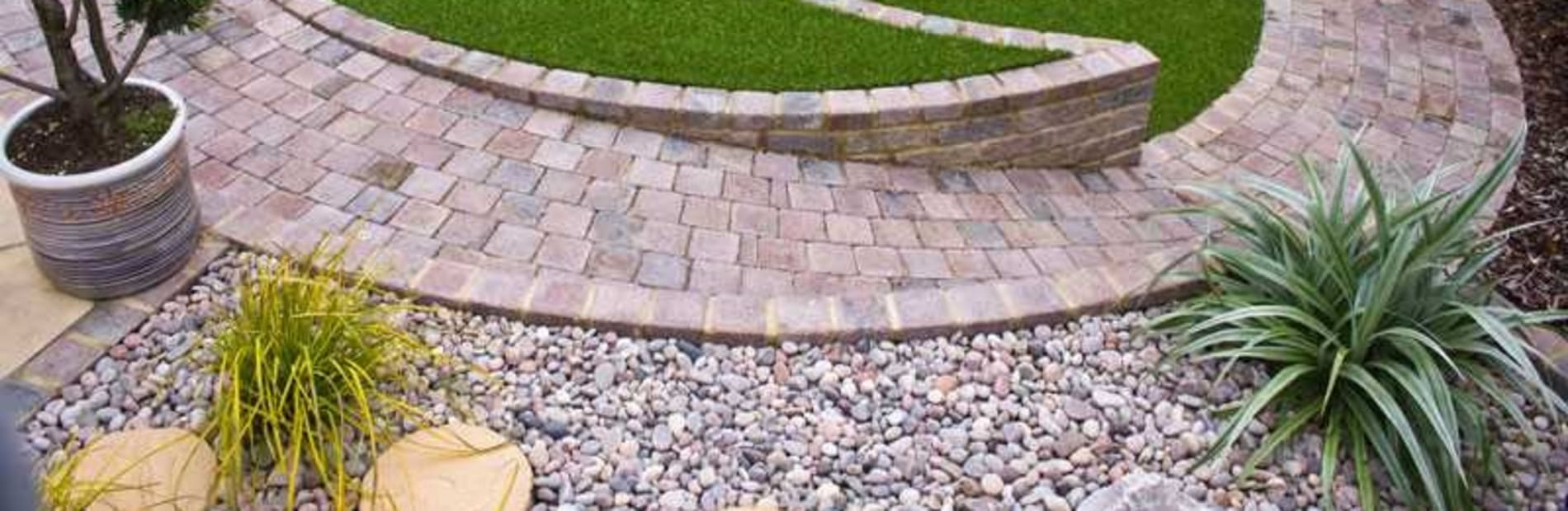 aggregates used in a patio area