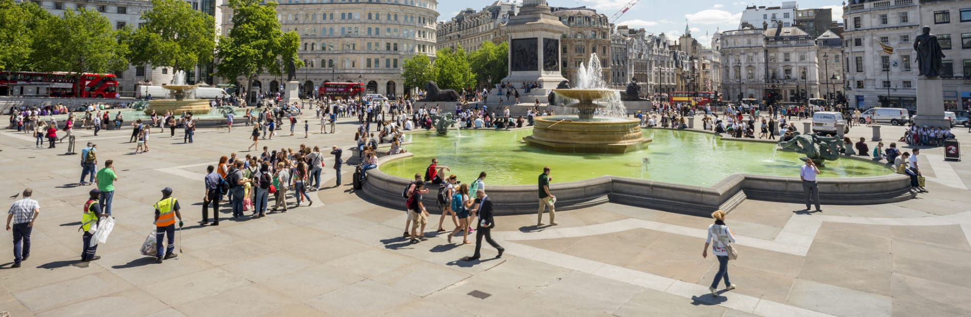 Paving in Trafalgar Square