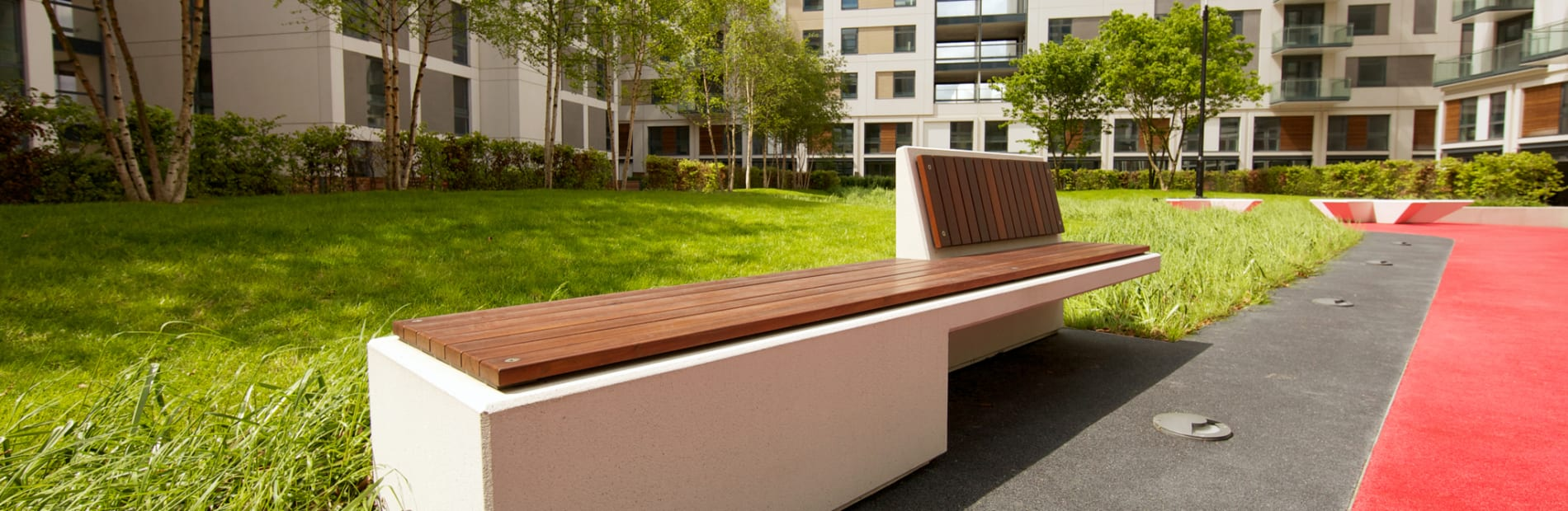 escofet equal concrete and timber seat