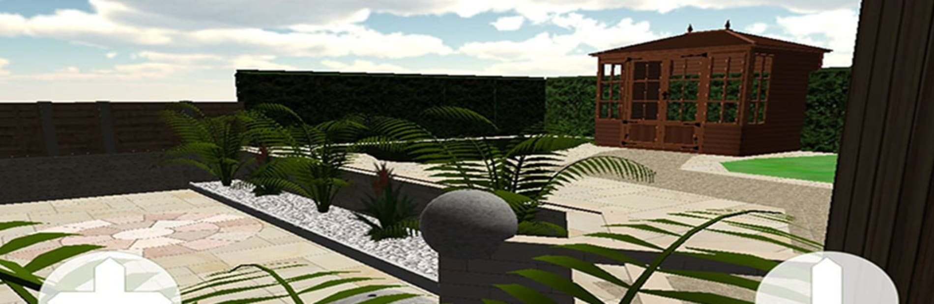 computer generated image of a 3-d garden design