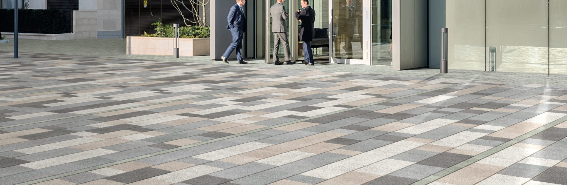 modal paving - mid grey granite