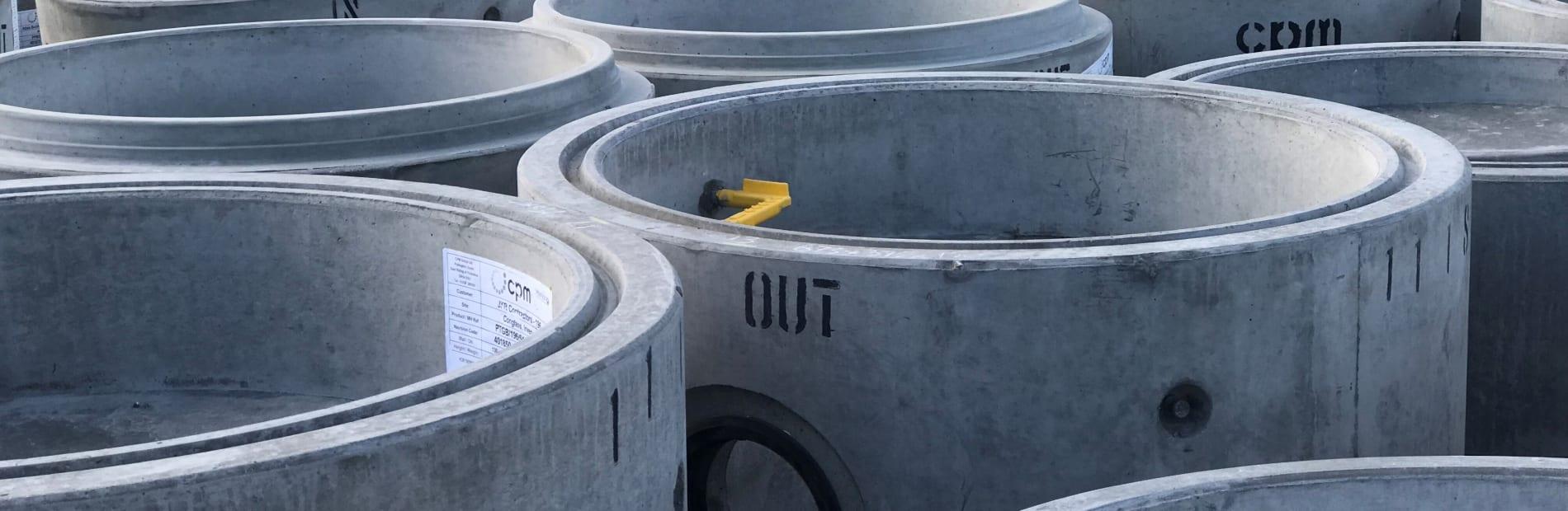 Concrete sealed manholes