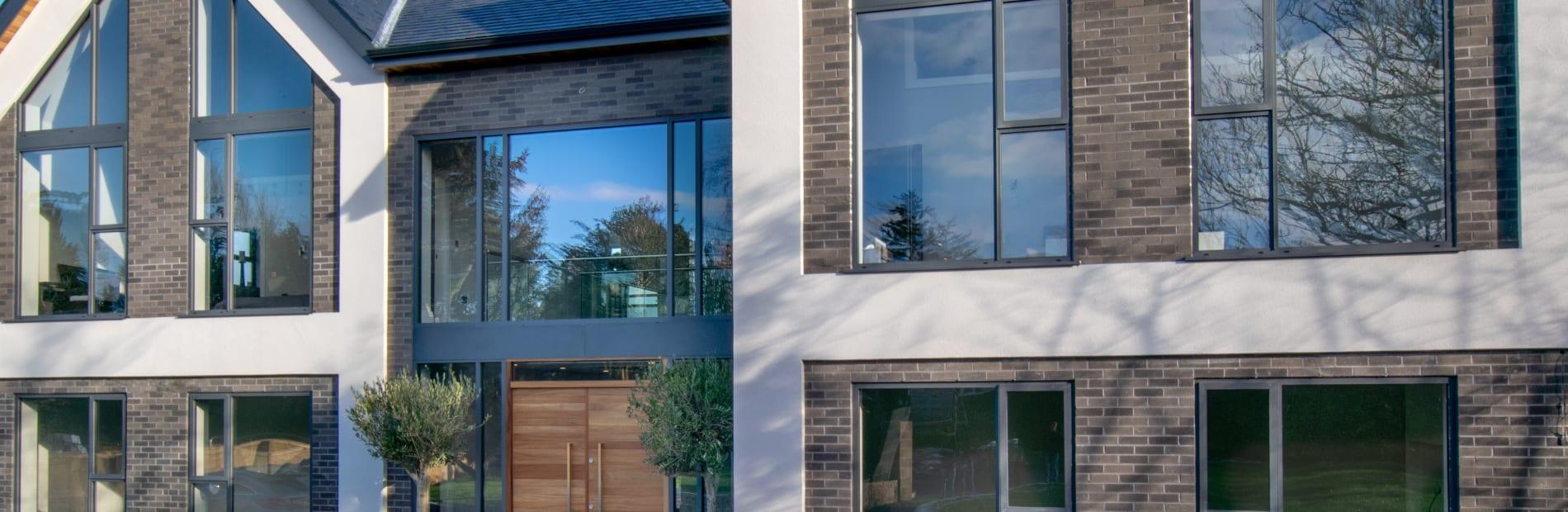 Contemporary Range Titanium Grey and Basalt Grey Mix Facing Bricks