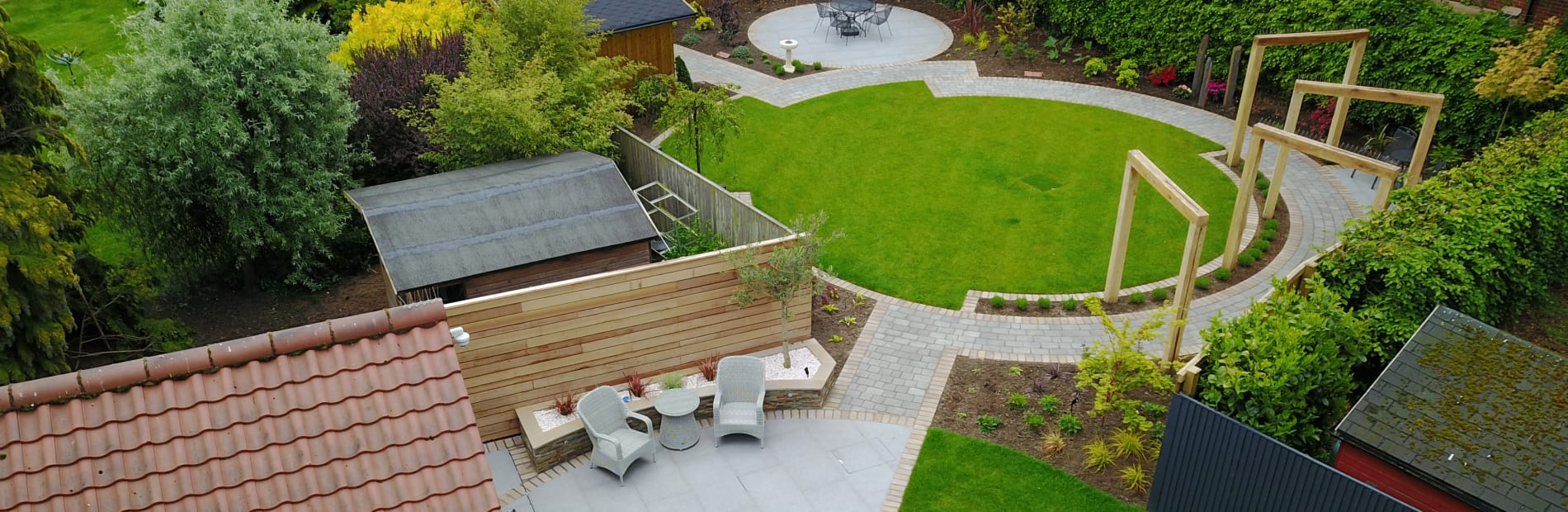 Zoned garden area