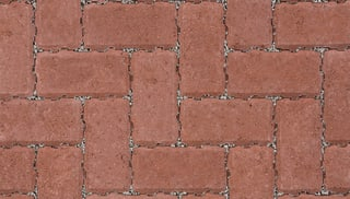 Marshalls Driveline Priora block paving in red.