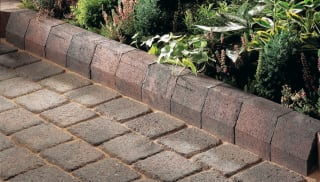 Marshalls Tegula Kerb in traditional.