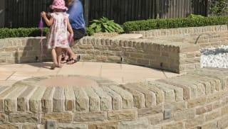 Marshalls traditional natural stone walling.
