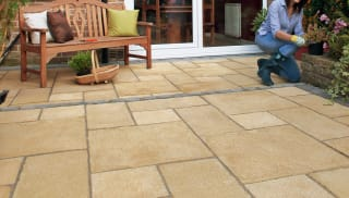 Marshalls Regent paving in Buff.