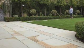 Marshalls Scoutmoor garden paving.