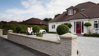 marshalls drivesett tegula laid in front of a house.