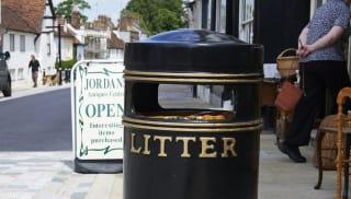 Albion Circular Litter Bin