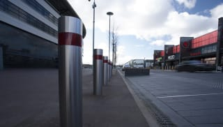 Bollards in front of business park