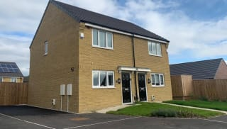 a semi detached property faced with cheltenham wheat facing bricks