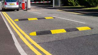 Black & Yellow Speed Bump
