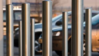 Bollards close up