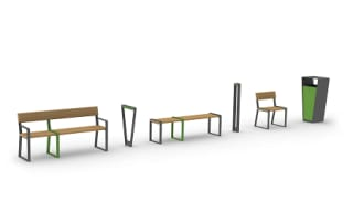 Loci bench, Loci seating and Loci bollard