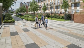 la linia paving in situ on brownfield estate