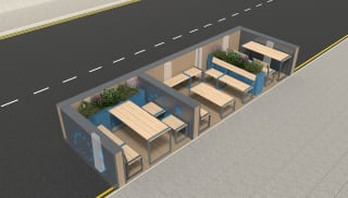 Marshalls Pop Up Parklet