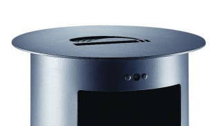Contemporary Litter Bin - Front Aperture