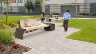 Urbain® Timber Seat with Double Backrest