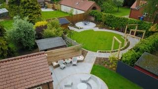 Zoned garden area
