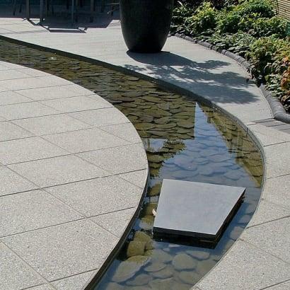 Argent Smooth Garden Paving - Light