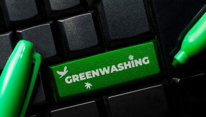 Greenwash button on keyboard