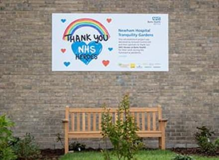 Marshalls donate to the Newham Hospital Tranquillity Gardens