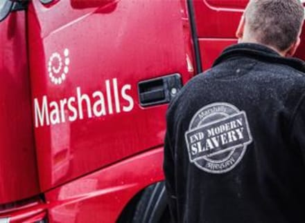 Marshalls takes part in Crimestoppers campaign on Modern Slavery