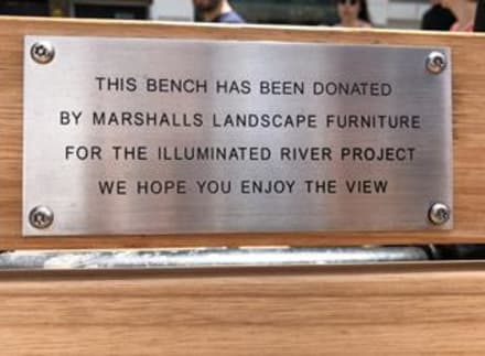 Marshalls Landscape Protection Donates Street Furniture to London's Illumintated River Project