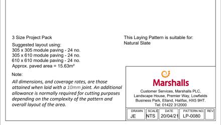 laying pattern - natural slate
