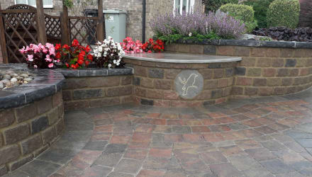 Drivesett Tegula Walling and Drivesett Tegula Circle