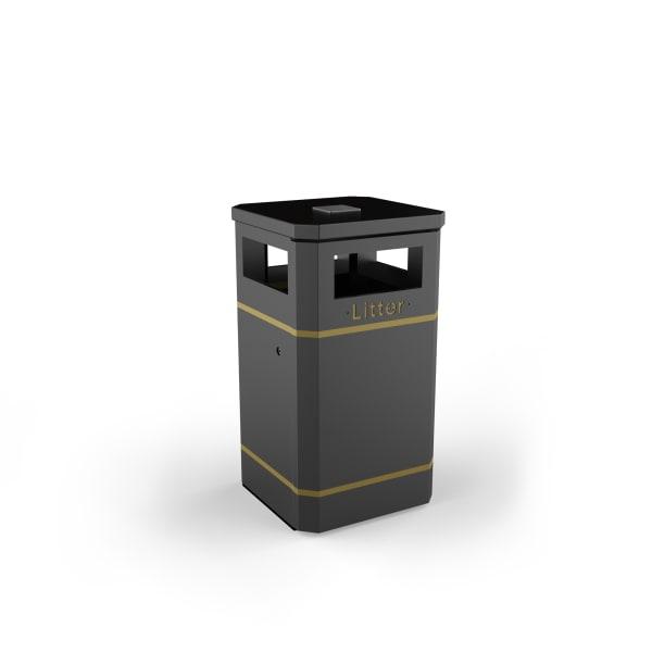 albion square 120l litter bin standard black