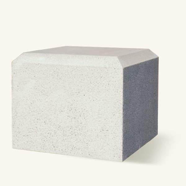monoscape cube 600 silver grey concrete bollard 1 ma