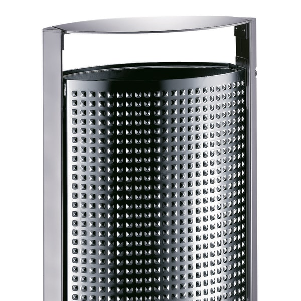diamond point litter bin stainless steel - sineu graff