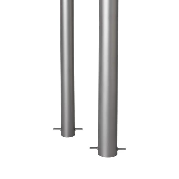 essentials 304 stainless steel bollards - bead blast finish