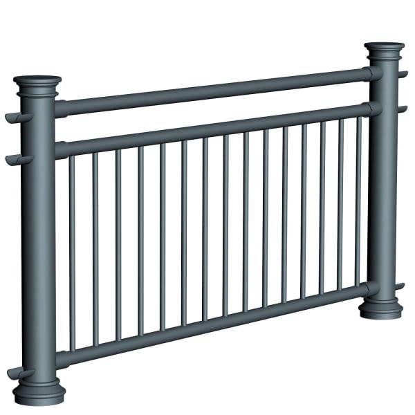 ferrocast chancellor 4 (pgr3) polyurethane pedestrian guard rail
