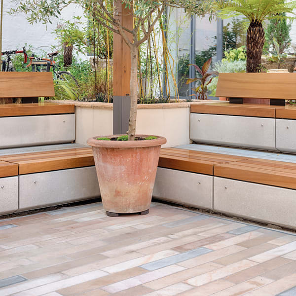 metrolinia seating - london design space courtyard