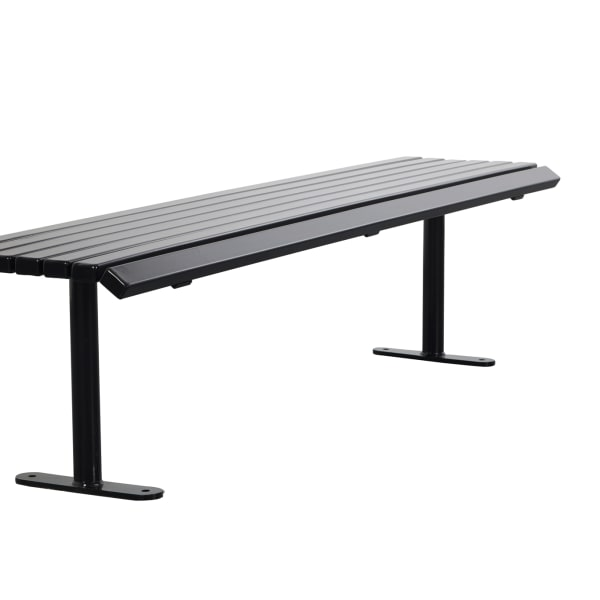 ollerton academy bench in steel