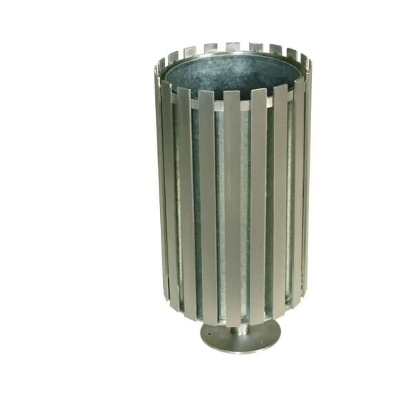 ollerton academy steel and stainless steel litter bin
