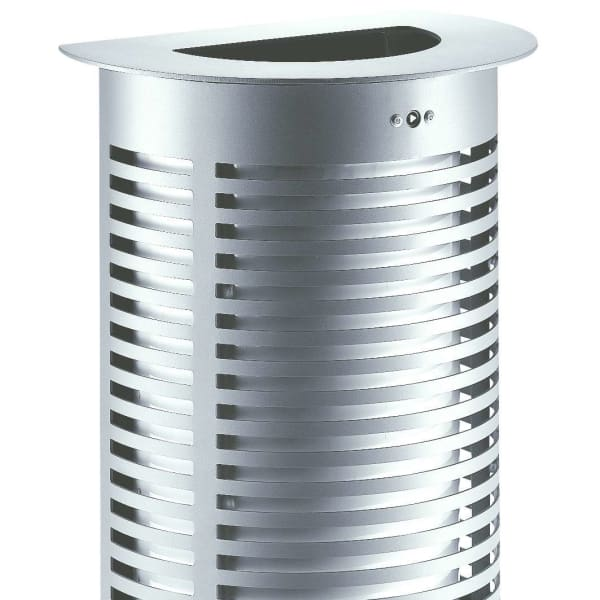sineu graff contemporary semi circular steel and stainless steel litter bin