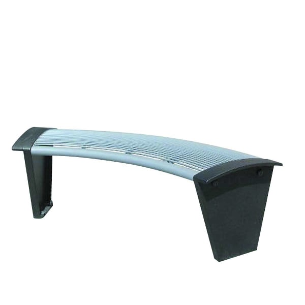 sineu graff rendezvous city curved bench in stainless steel