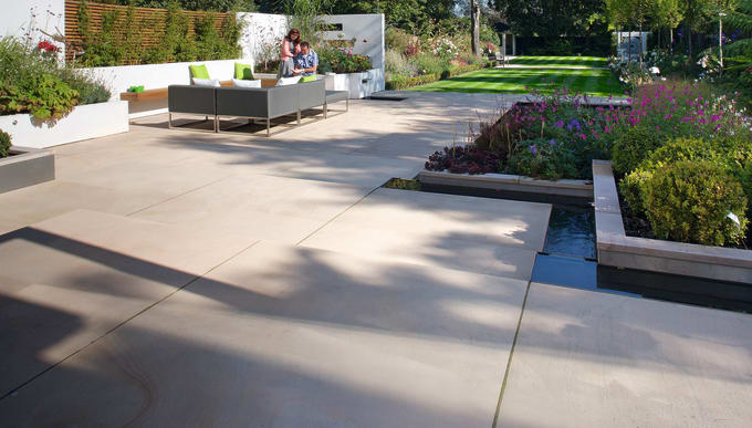 Good quality Indian sandstone patio