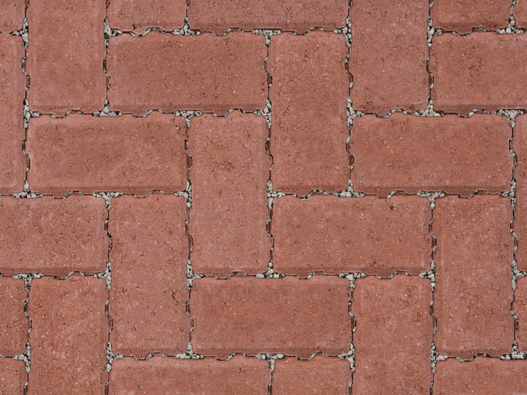 Marshalls Driveline Priora block paving in red.